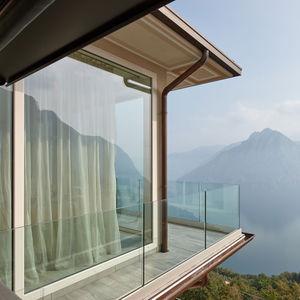 Glasbalustrade / Außenbereich / für Balkon