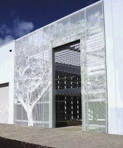 Metall-Dekorplatte / für abgehängte Decken / zur Außenraumgestaltung / perforiert