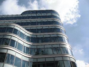 Platten-Fassadenverkleidung / Glasfaser / 3D / glatt