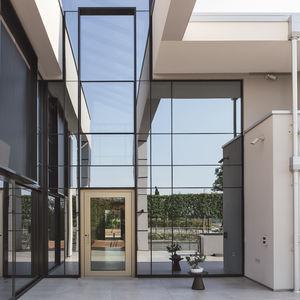 Tür zur Außenaufstellung / drehend / Glas / Aluminium