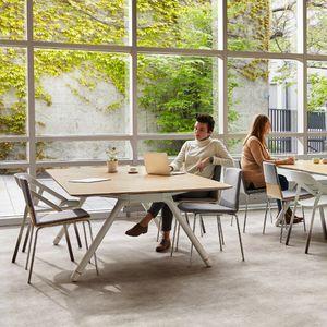 moderner Tisch / Glas / Laminat / Marmor