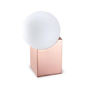Tischlampe / originelles Design / Aluminium / Glas