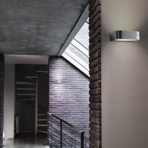 moderne Wandleuchte / Aluminium / Glas / Halogen