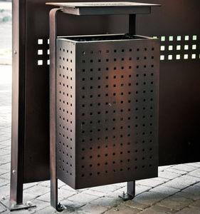 Park-Abfallbehälter / wandmontiert / freistehend / Metall