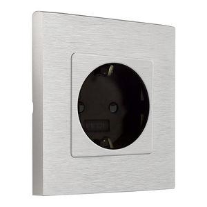 wandmontierte Steckdose / Metall / modern