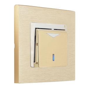 Schalter für Hausautomationssystem / Karten / Einbau / Messing