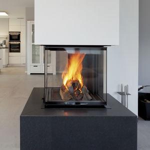 Geschlossene Feuerstelle / Holz / 4 Sichtseiten / Metall