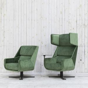 moderner Sessel / Stoff / drehbar / Ohren