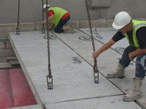 Vorgefertigte Dielendecke / Stahlbeton / für Böden