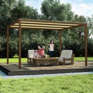 selbsttragende Pergola / Holz / Aluminium / Polycarbonat-Überdachungen