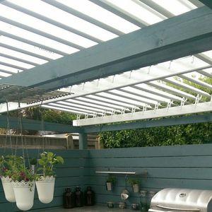 selbsttragende Pergola / Metall / Holz / Polycarbonat-Überdachungen