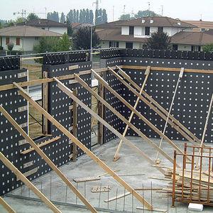 Polystyrolschalungsstein / aus Beton / für Wände / dämmend