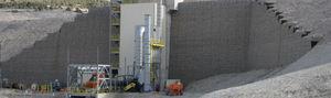 Stahl-Stützmauer