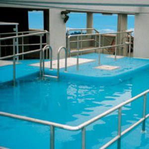 erdverlegtes Schwimmbecken / Beton / Außenbereich / Rehabilitation