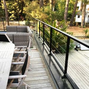 Aluminium-Geländer / Kabel / Außenbereich / für Terrassen