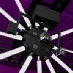 Spiegelbewegter Scheinwerfer mit Halogenlampe