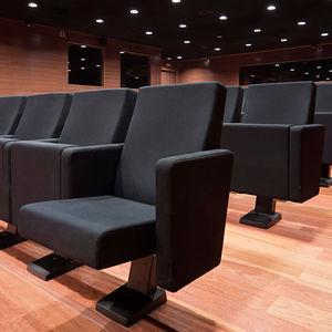 moderner Auditoriumsessel / Stoff / Polyurethan / Klapp