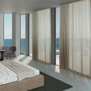 Vorhangschiene für Deckenmontage / mit manueller Bedienung / für drapierte Vorhänge / Objektmöbel
