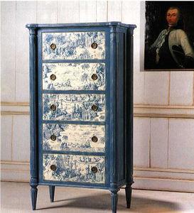 klassischer Chiffonnier / Holz / blau