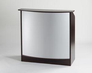 Holz-Empfangstheke / für Frisörsalon