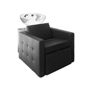 Waschsessel mit Fußstütze