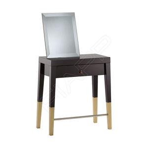 moderner Schminktisch / Glas / Holz / für Frisörsalon