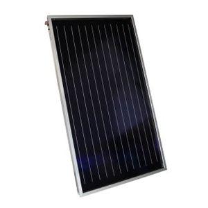 planer Thermischer Sonnenkollektor / zum Erhitzen von Wasser / aus entspiegeltem Glas / für Dächer