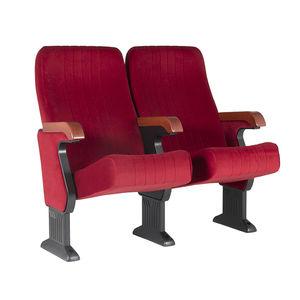 moderner Auditoriumsessel / Stoff / Holz / Klapp