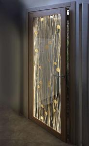 Tür für Innenbereich / einflügelig / aus Acryl / für Hotels