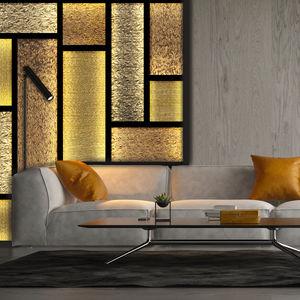 Verkleidungs-Dekorplatte / Möbel / aus Harz / synthetisches Glas