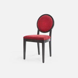 klassischer Stuhl / Polster / mit Armlehnen / Medaillon