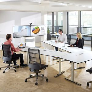 moderner Besprechungstisch / HPL / rechteckig / für Büro