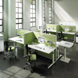Schreibtisch für Open Space / HPL / modern / für Hotels