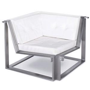 moderner Sessel / Batyline® / Edelstahl / modulierbar