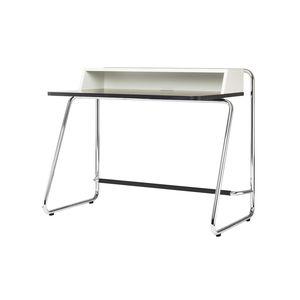 Holz-Schreibtisch / Stahl / modern / integrierter Stauraum