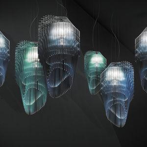 Hängelampe / originelles Design / Lentiflex® / aus Cristalflex®