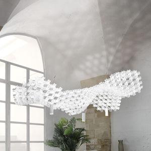 Hängelampe / originelles Design / Stahl / Opalflex®