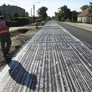 verstärkendes Geogitter / Straßenbelag / Verbundwerkstoff