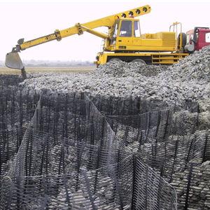 verstärkendes Geogitter / für Vorge te für Stützmauern / Polyethylen