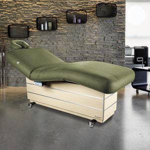 elektrische Massageliege / Holz / höhenverstellbar / wärmend