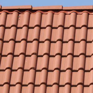 Falzdachziegel / aus Beton / rot / braun