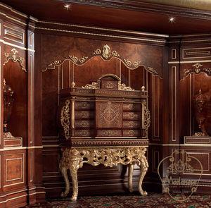 hochbeiniges Sideboard / Stil / Massivholz / für Hotels