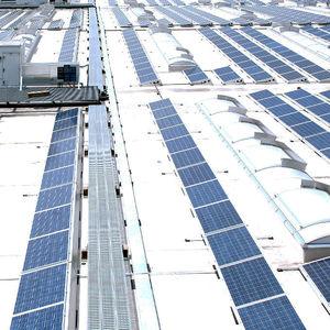 Oberlicht für Photovoltaikanlage