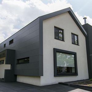 Platten-Fassadenverkleidung / Verbundwerkstoff / Basalt / glatt