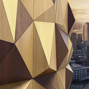 Platten-Fassadenverkleidung / Verbundwerkstoff / Basalt / Hochglanz