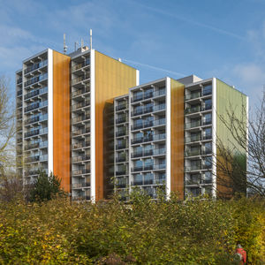 Platten-Fassadenverkleidung / aus Basalt / Verbundwerkstoff / glatt