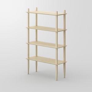 Regal / originelles Design / aus Eiche / aus Nussbaum / Massivholz