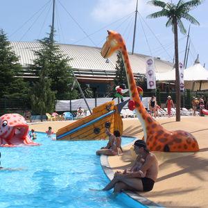 Glasfaser-Dusche / für Aquapark / für Kinder
