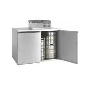Objektmöbel-Getränkekühlschrank / horizontal / 2 Türen