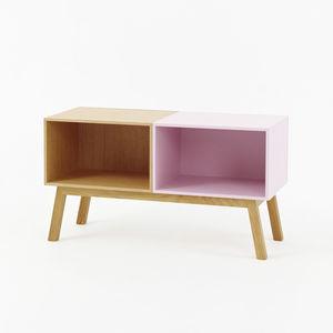 modernes Sideboard / lackiertes Holz / lackiertes MDF / Holzfurnier